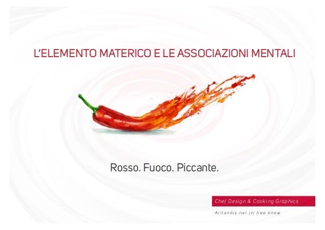 Chef Design & Cooking Graphics A r t l a n d i s . n e t [ 4 ] f r e e k n o w L'ELEMENTO MATERICO E LE ASSOCIAZIONI MENTA...
