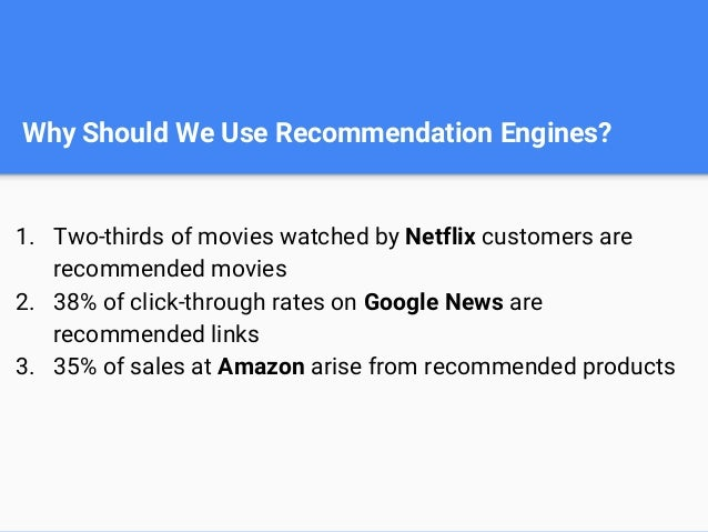 The value of product recommendation 1. Retain user loyalty 2. Builds the volume of user traffic 3. Delivers more convenien...