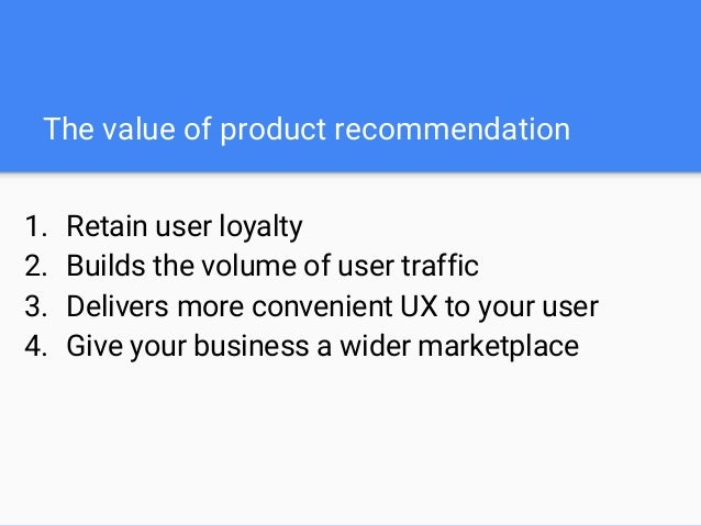So what is recommendation engine ? In technical terms, a recommendation engine problem is to develop a mathematical model ...