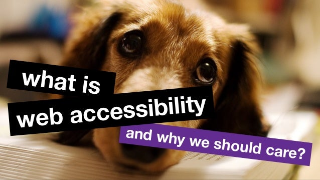 and why we should care? web accessibility what is