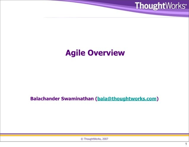 Intro to Agile