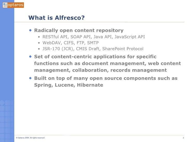 Intro To Alfresco Part 1 Slide 2