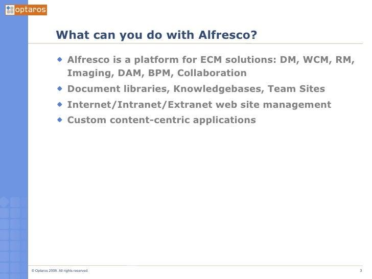 Intro To Alfresco Part 1 Slide 3