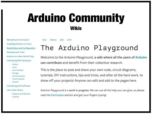 Intro to the Arduino Entrepreneurial System