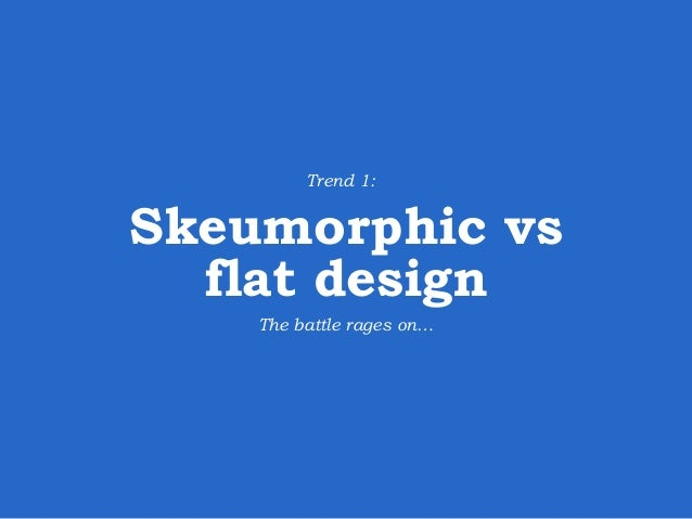Flat designs