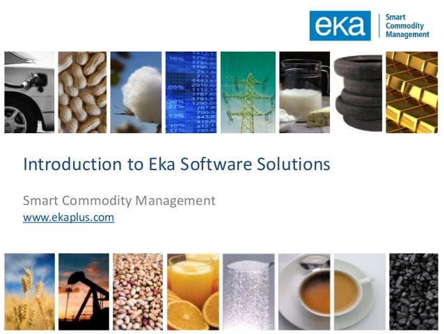 Digital Commodity Management Platform | Eka