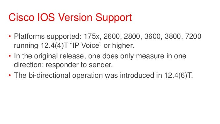 Introduction to Network Performance Measurement with Cisco IOS IP Ser…