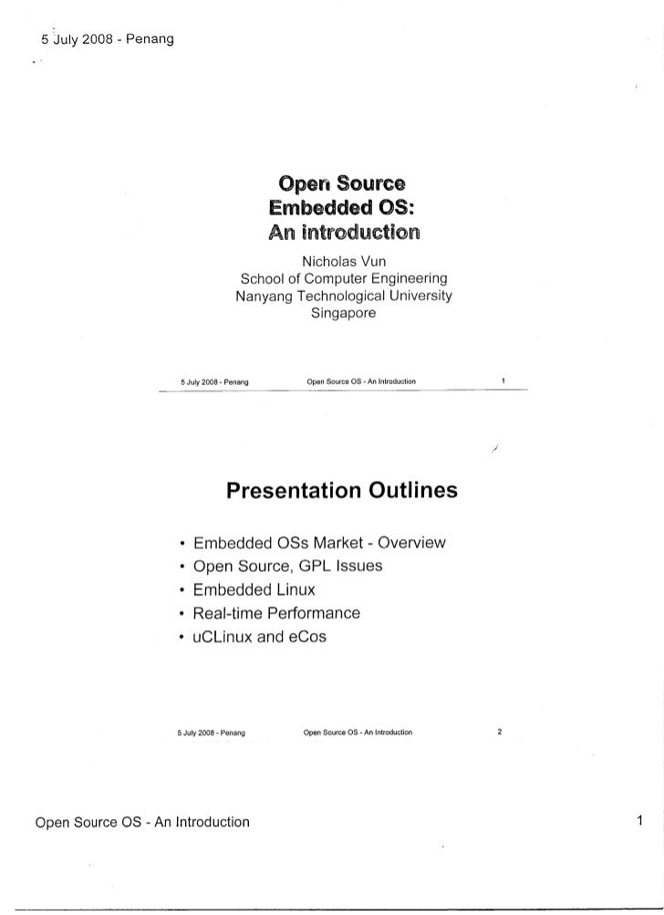 Introduction To Open Source Embedded OS