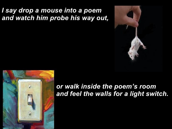 to a mouse poem pdf