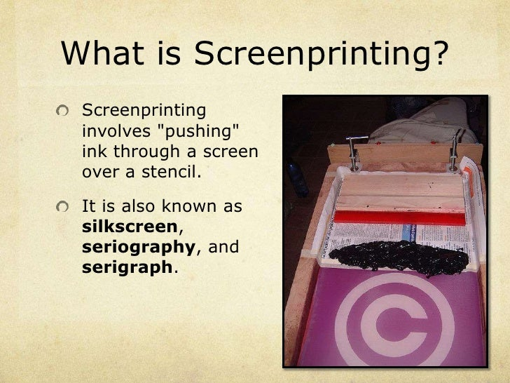 intro to screenprinting