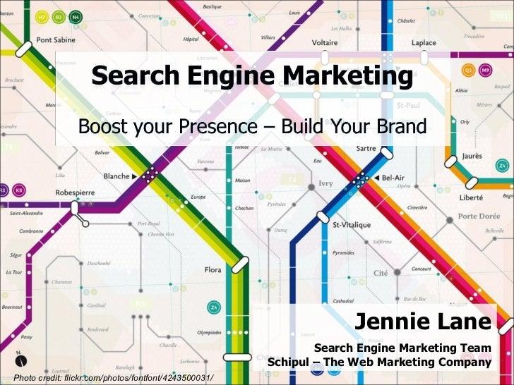 Jennie Lane Search Engine Marketing Team Schipul – The Web Marketing Company Photo credit: flickr.com/photos/fontfont/4243...