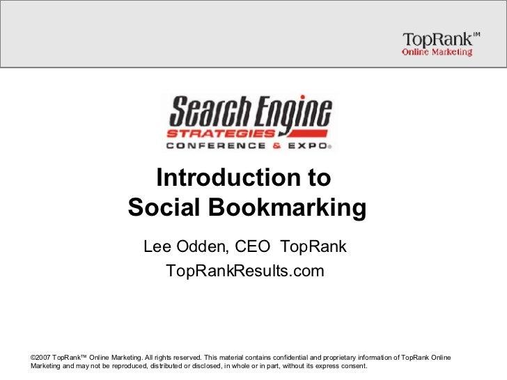 Social Media Marketing with Social Bookmarking