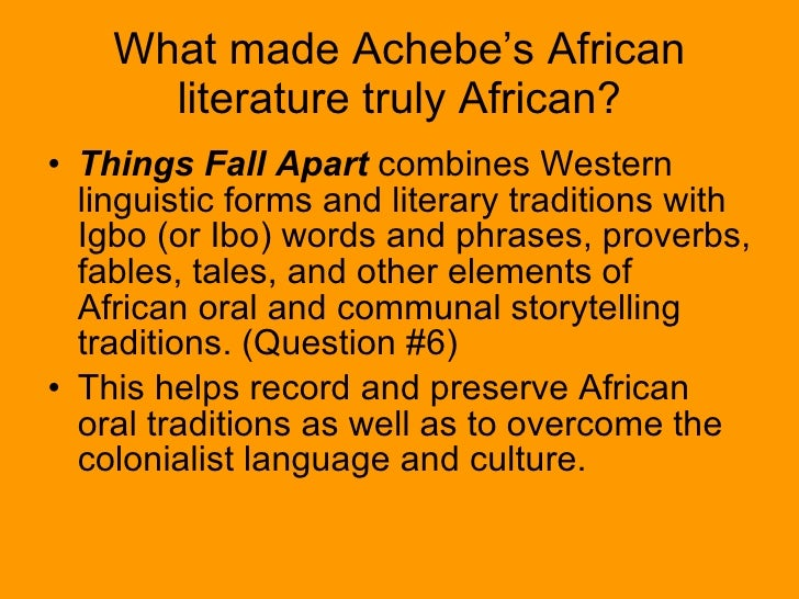 storytelling in achebe essay Chinua achebe, the author of when things are good and both their different styles of storytelling are roles that are interconnected to result in good parenting and shows characteristically feminine fondness for ekwefi's documents similar to gender roles, things fall apart essay skip.