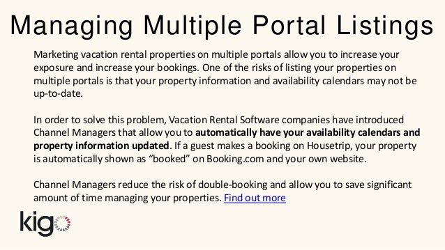 Vacation Rental Property Search Engines