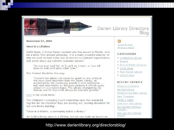 http://www.darienlibrary.org/directorsblog/