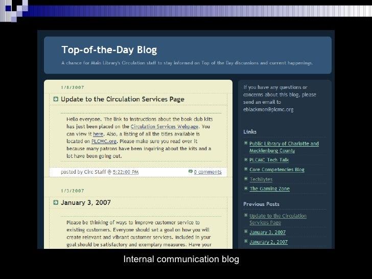Internal communication blog