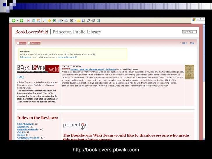 http://booklovers.pbwiki.com