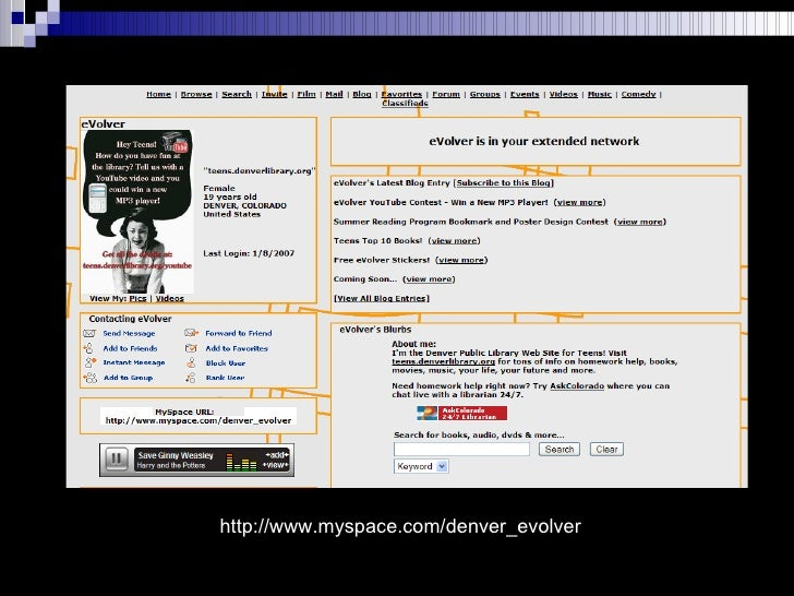 http://www.myspace.com/denver_evolver