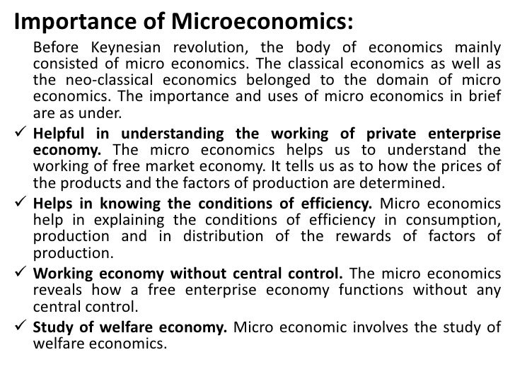 Economics and the role of