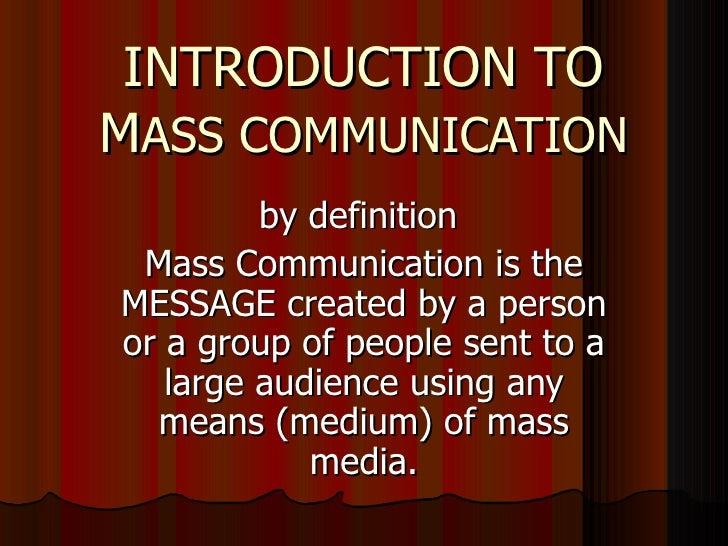 intro to mass media