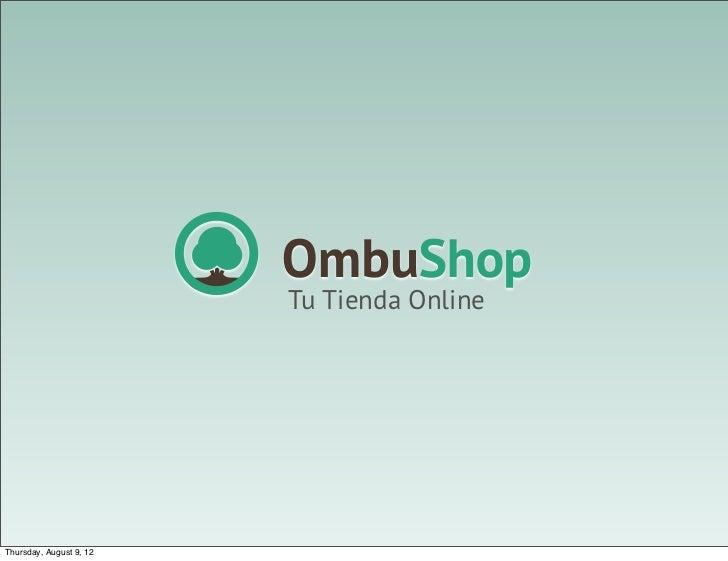 Tu Tienda OnlineThursday, August 9, 12
