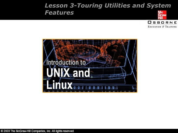 Lesson 3-Touring Utilities and System Features