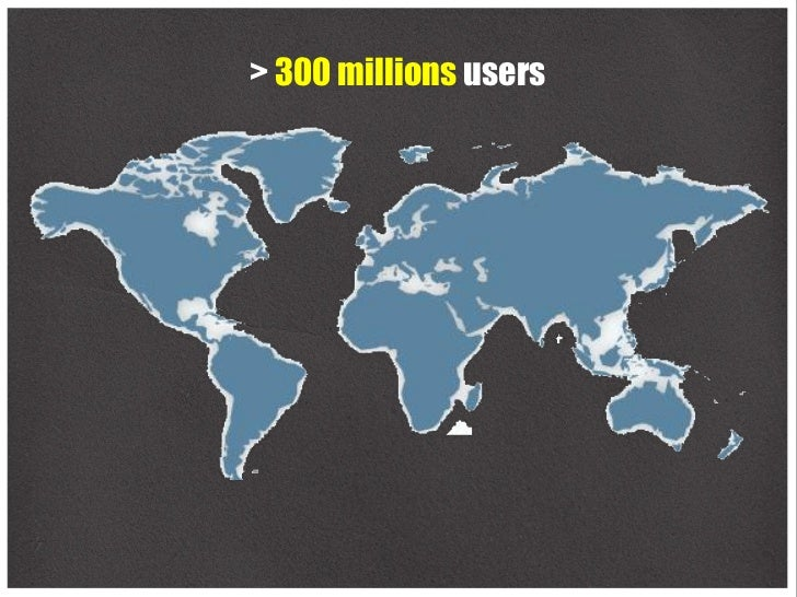 > 300 millions users
