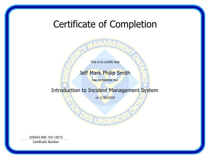 IMS 100 - Introduction to Incident Management System (Emergency Mana…