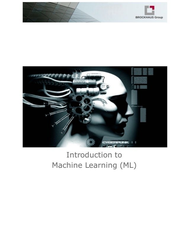 Introduction to Machine Learning (ML)