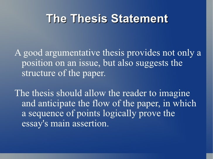 Good thesis statement for unemployment