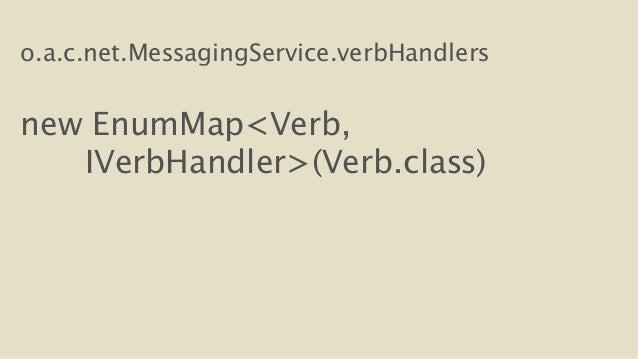 o.a.c.net.MessagingService.verbHandlers  !  new EnumMap<Verb,  IVerbHandler>(Verb.class)