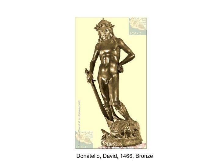 Donatello, David, 1466, Bronze<br />