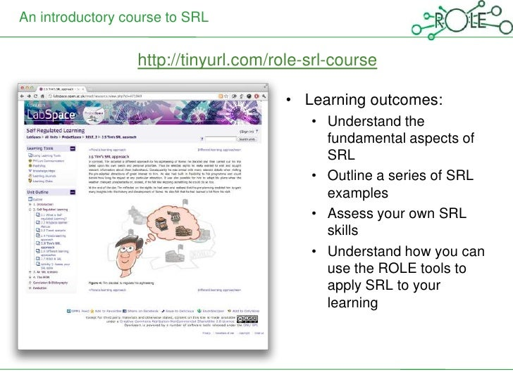 An introductory course to SRL                  http://tinyurl.com/role-srl-course                                       • ...