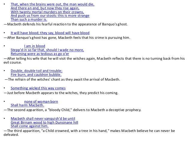 evil in macbeth quotes