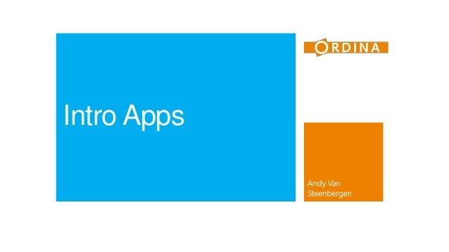 Intro Apps