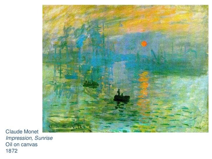 Claude Monet<br />Impression, Sunrise<br />Oil on canvas<br />1872<br />