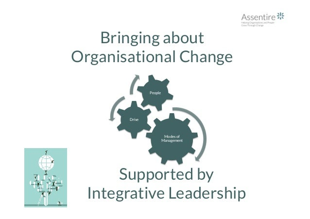 Bringing about Organisational Change Modes of Management Drive People Supported by Integrative Leadership