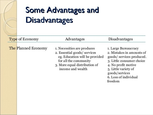 disadvantages of gnp What is command economy, what are the advantages and disadvantages of command economy - 5 important characteristics of command economy.