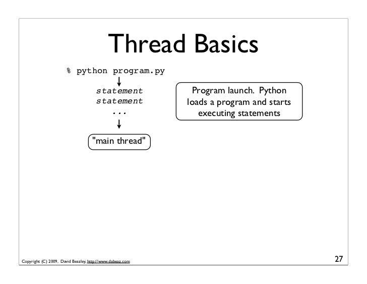 Thread Basics                        % python program.py                                        statement             Prog...