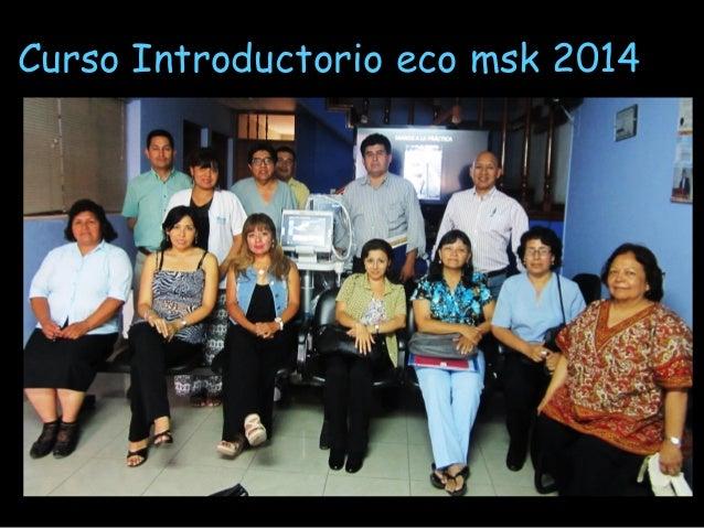 INICIO DEL CURSO TALLER  ECOGRAFIA MSK 2014 Slide 2