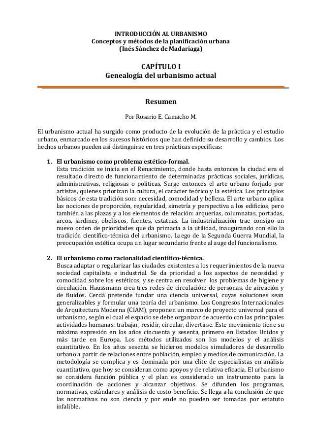 INTRODUCCIÓN AL URBANISMO                    Conceptos y métodos de la planificación urbana                             (I...