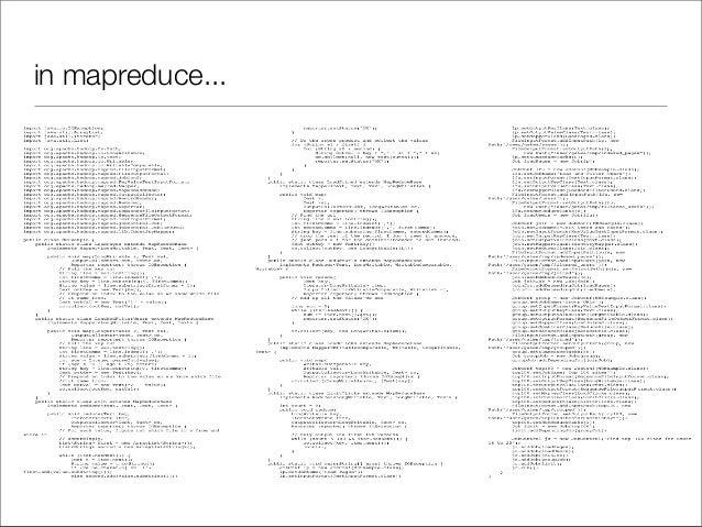in mapreduce...