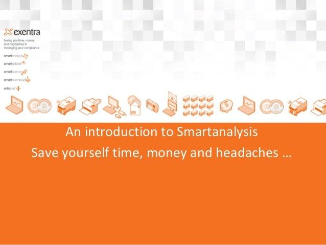 Introduction To Smartanalysis