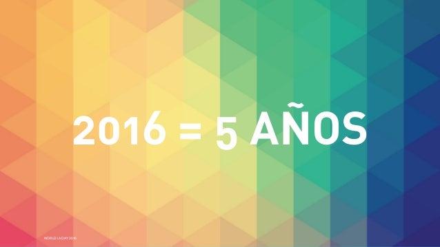 WORLD IA DAY 2016 2016 = 5 AÑOS