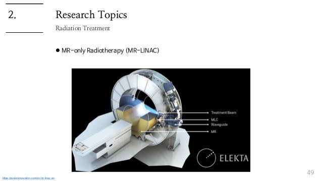 Research Topics  MR-only Radiotherapy (MR-LINAC) 49 Radiation Treatment 2. https://avaloninnovation.com/en/mr-linac-en