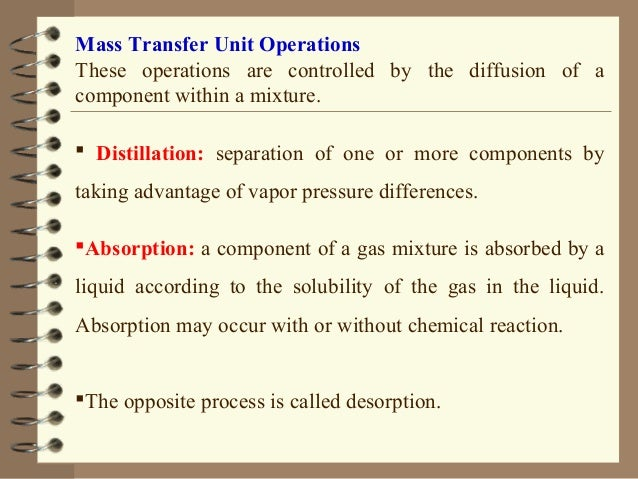 Unit Operations in Food Industry