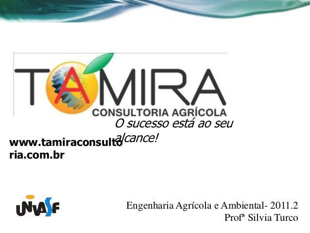 O sucesso está ao seu                 alcance!www.tamiraconsultoria.com.br                   Engenharia Agrícola e Ambient...