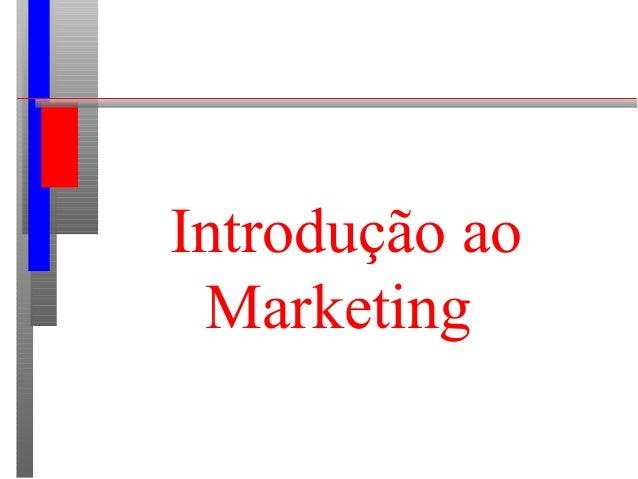 Introdução ao Marketing