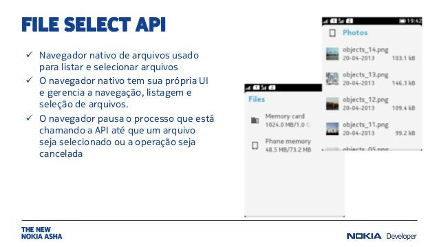 FILE SELECT API  Navegador nativo de arquivos usado para listar e selecionar arquivos  O navegador nativo tem sua própri...