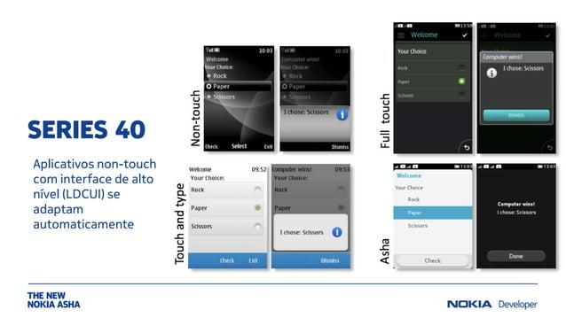 SERIES 40 Aplicativos non-touch com interface de alto nível (LDCUI) se adaptam automaticamente